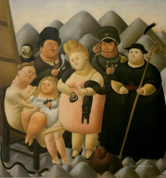 The Family of the President Fernando Botero Oil Paintings