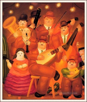 The Musicians 2 Fernando Botero Oil Paintings