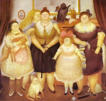 The Sisters Fernando Botero Oil Paintings