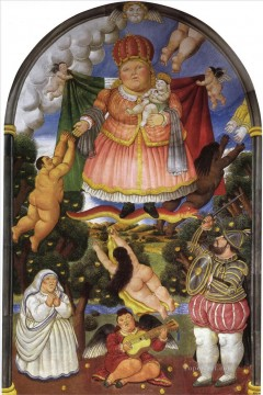 Celestial Portal Fernando Botero Oil Paintings