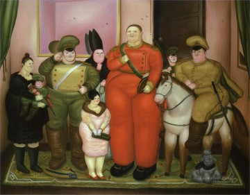 Official Portrait of the Military Junta Fernando Botero Oil Paintings