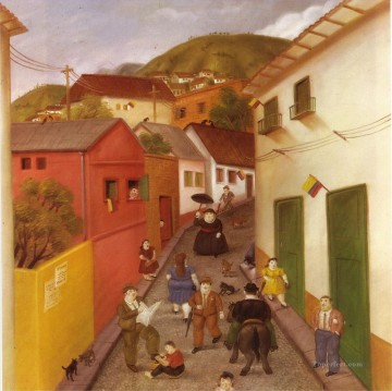 The Street Fernando Botero Oil Paintings