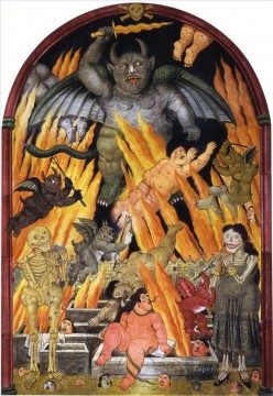 Gates of Hell Fernando Botero Oil Paintings