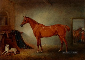 horse Art Painting - Firebird And Policy horse John Ferneley Snr