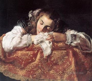 sleep Painting - Sleeping Girl Baroque figures Domenico Fetti
