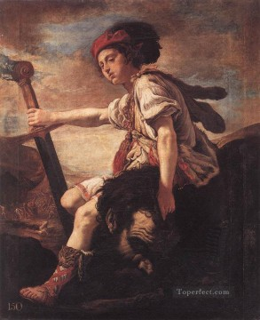 Domenico Fetti Painting - David With The Head Of Goliath Baroque figures Domenico Fetti