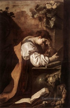 Domenico Fetti Painting - Melancholy 1622 Baroque figures Domenico Fetti