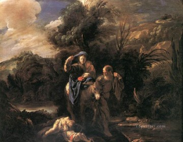 Domenico Fetti Painting - Flight To Egypt Baroque figures Domenico Fetti