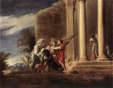 Domenico Fetti Painting - Tobias Healing His Father Baroque figures Domenico Fetti