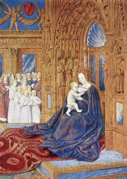 The Madonna Before The Cathedral Jean Fouquet Oil Paintings
