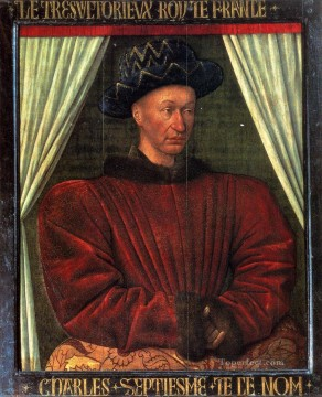 Charles VII King Of France Jean Fouquet Oil Paintings