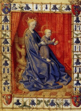 The Virgin And Child Enthroned Jean Fouquet Oil Paintings