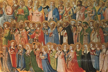 Christ Glorified In The Court Of Heaven Renaissance Fra Angelico Oil Paintings