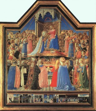 Coronation Of The Virgin Renaissance Fra Angelico Oil Paintings