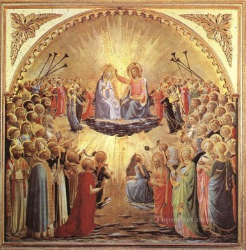 The Coronation Of The Virgin Renaissance Fra Angelico Oil Paintings