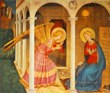 Annunciation Renaissance Fra Angelico Oil Paintings
