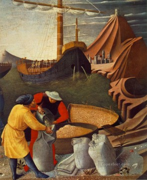renaissance Painting - Story Of St Nicholas St Nicolas Saves The Ship Renaissance Fra Angelico