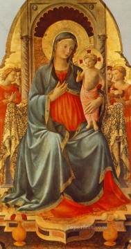 madonna Painting - Madonna With The Cupid And Angels Renaissance Fra Angelico