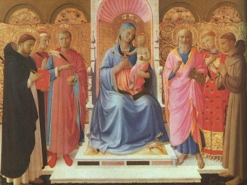 Fra Angelico Painting - Annalena Altarpiece Renaissance Fra Angelico