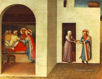 The Healing Of Palladia By Saint Cosmas And Saint Damian Renaissance Fra Angelico Oil Paintings