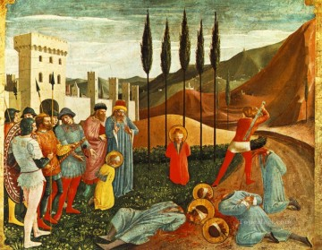 renaissance Painting - Beheading Of Saint Cosmas And saint Damian Renaissance Fra Angelico