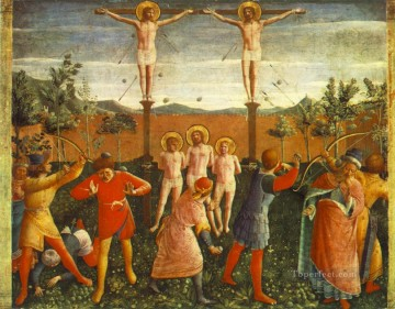 renaissance - Saint Cosmas And Saint Damian Crucixed And Stoned Renaissance Fra Angelico