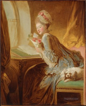Doni Art - The Love Letter Rococo hedonism eroticism Jean Honore Fragonard