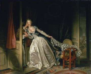Doni Art - The Stolen Kiss Rococo hedonism eroticism Jean Honore Fragonard