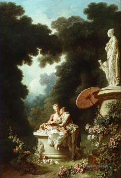 Doni Art - The Confession of Love Rococo hedonism eroticism Jean Honore Fragonard