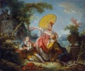 The Musical Contest Rococo hedonism eroticism Jean Honore Fragonard