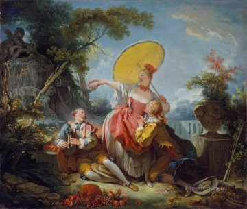 Doni Art - The Musical Contest Rococo hedonism eroticism Jean Honore Fragonard