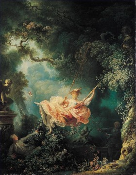 Doni Art - The Swing Rococo hedonism eroticism Jean Honore Fragonard
