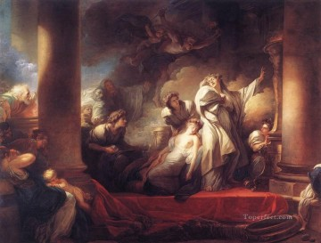 Doni Art - Coresus Sacrificing himselt to Save Callirhoe Rococo hedonism eroticism Jean Honore Fragonard
