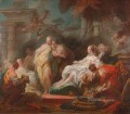 Psyche showing her Sisters her Gifts from Cupid Rococo hedonism eroticism Jean Honore Fragonard