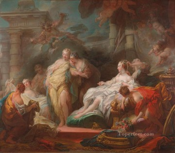 Doni Art - Psyche showing her Sisters her Gifts from Cupid Rococo hedonism eroticism Jean Honore Fragonard