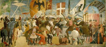 Francesca Painting - Battle Between Heraclius And Chosroes Italian Renaissance humanism Piero della Francesca