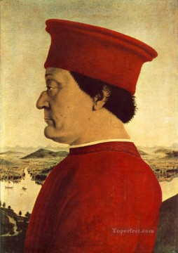 Portrait Of Federico Da Montefeltro Italian Renaissance humanism Piero della Francesca Oil Paintings