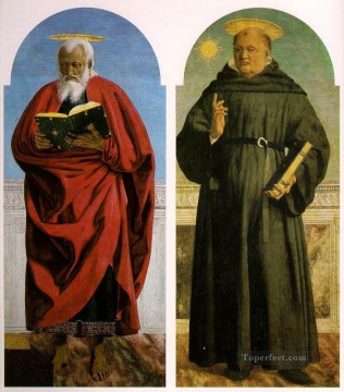 Polyptych Of Saint Augustine 2 Italian Renaissance humanism Piero della Francesca Oil Paintings