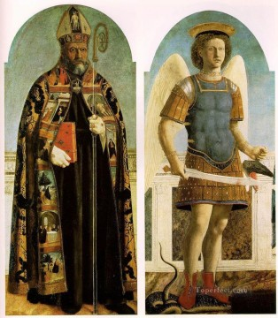 Polyptych Of Saint Augustine Italian Renaissance humanism Piero della Francesca Oil Paintings