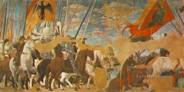 Francesca Painting - Battle Between Constantine And Maxentius Italian Renaissance humanism Piero della Francesca
