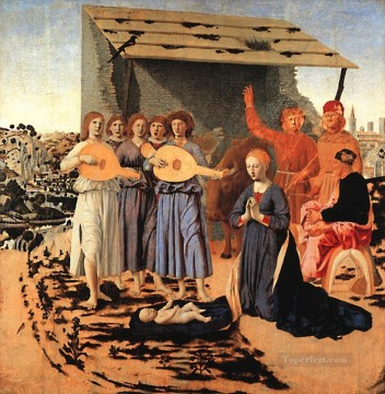 humanism Canvas - Nativity Italian Renaissance humanism Piero della Francesca