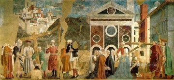 Francesca Painting - Discovery And Proof Of The True Cross Italian Renaissance humanism Piero della Francesca
