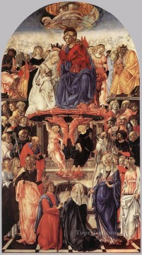Francesco di Giorgio Painting - The Coronation Of The Virgin Sienese Francesco di Giorgio