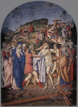 baptism of christ Painting - The Disrobing Of Christ Sienese Francesco di Giorgio