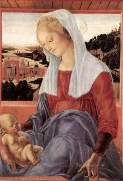 Francesco Canvas - Madonna And Child 1472 Sienese Francesco di Giorgio
