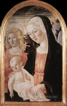 madonna Painting - Madonna And Child With An Angel Sienese Francesco di Giorgio