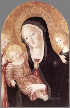 madonna Painting - Madonna And Child With Two Angels Sienese Francesco di Giorgio