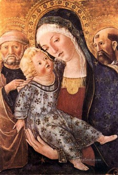 madonna Painting - Madonna With Child And Two Saints Sienese Francesco di Giorgio