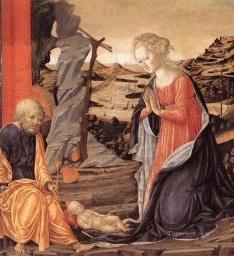 Francesco Canvas - Nativity 1470 Sienese Francesco di Giorgio