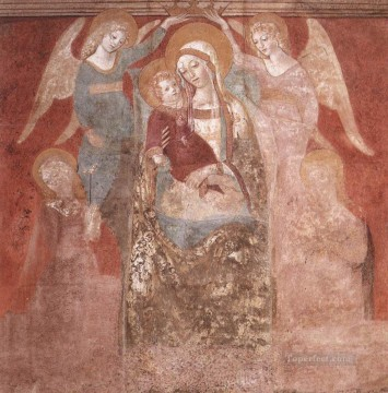 madonna Painting - Madonna And Child With Angels Sienese Francesco di Giorgio